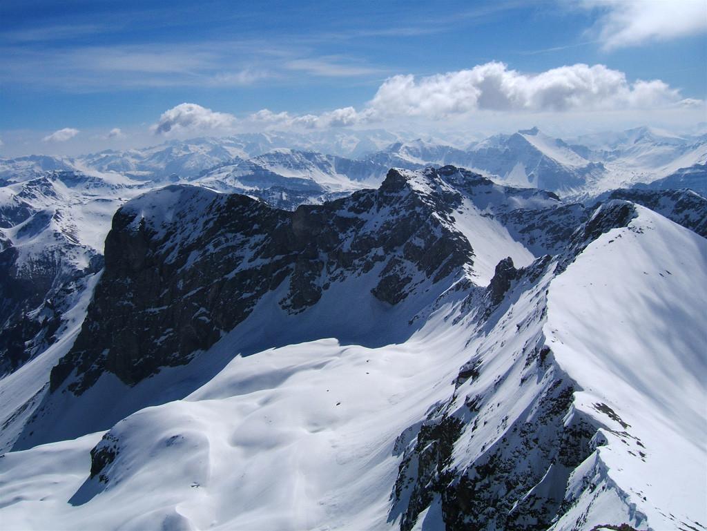 Pas de la Grande Barre vue du Mt PELAT