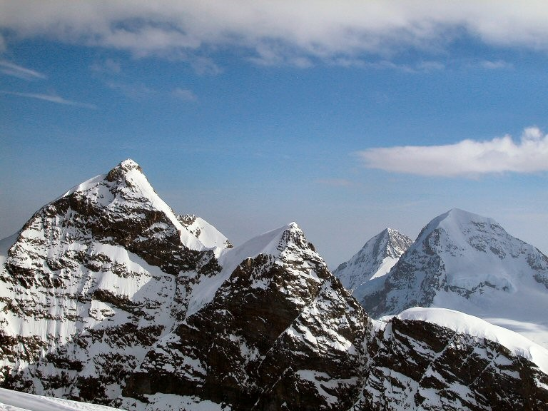 panorama dall'Ebnefluh: Jungfrau, Mönch ed Eiger