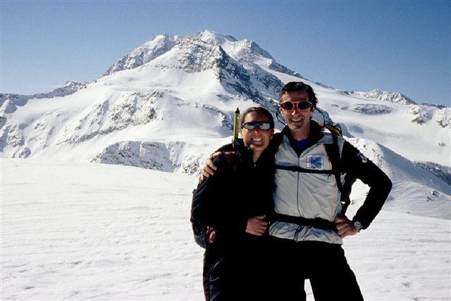 Io e Daniela in cima al Galehorn