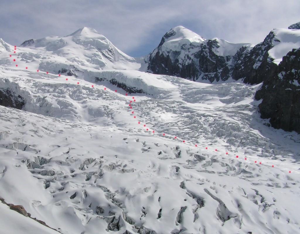 itinéraire du glacier