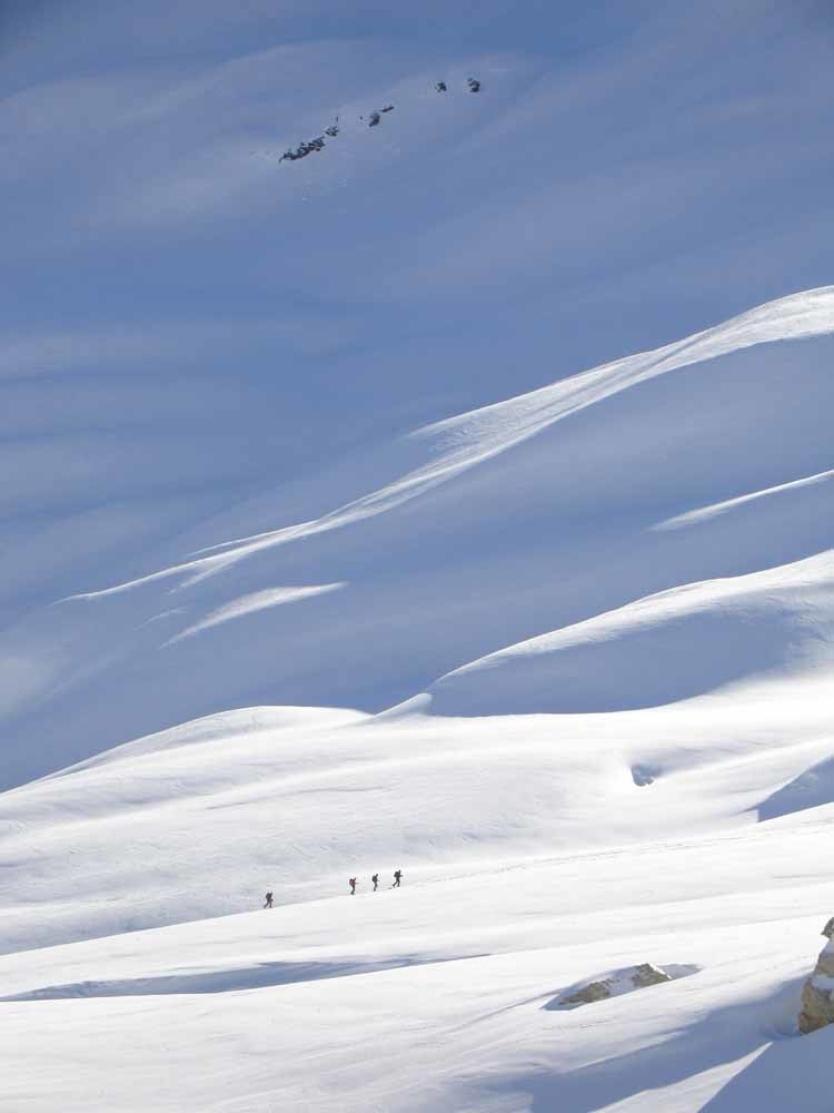 Calme et neige möelleuse à la Galise