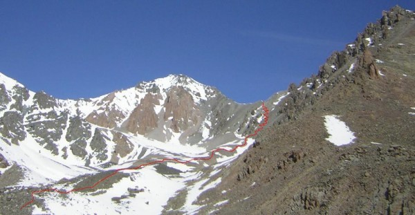 Route up to Adygene pass