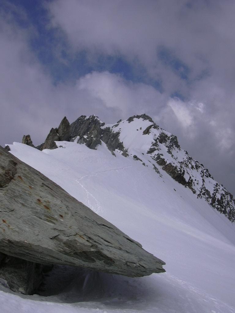 Vue sur le sommet de la Bérangère