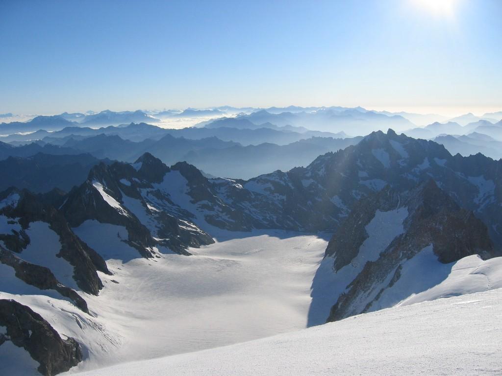 le glacier blanc vu du dôme