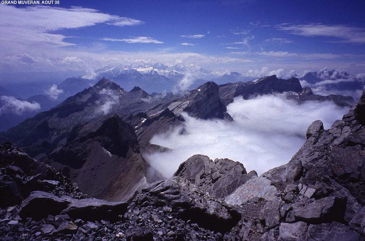 Panorama du sommet du Grand Muveran