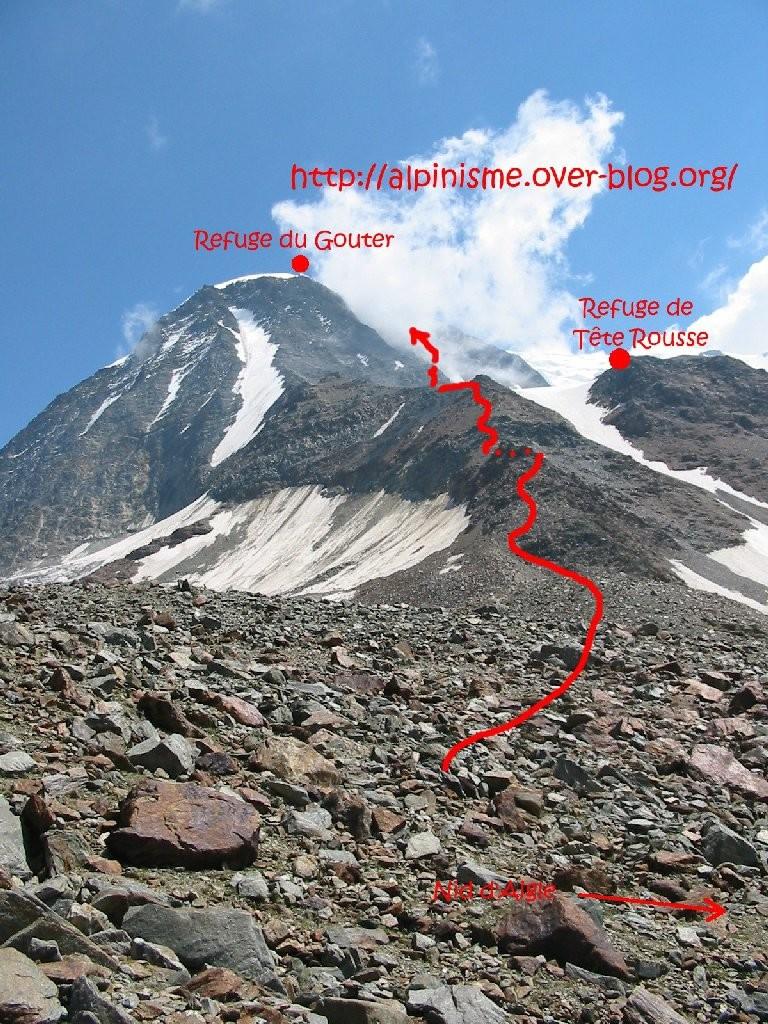 Topo Mont Blanc - du Nid d'Aigle au Grand Couloir