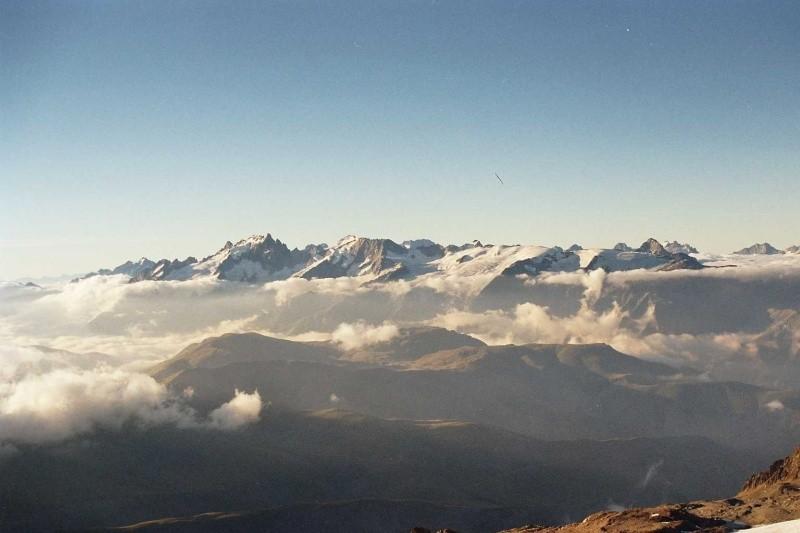 La Meije et le Glacier de la Girôse vus depuis le Pic de l'Etendard