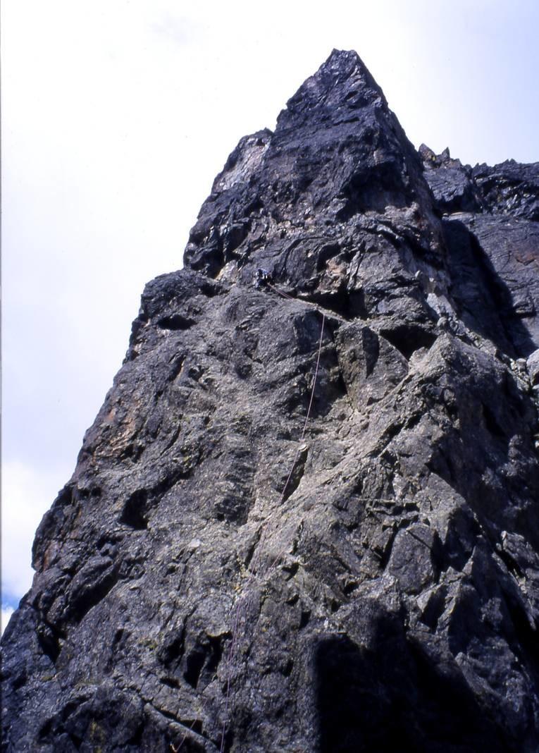 Aiguille de la Combe : 1ère longueur