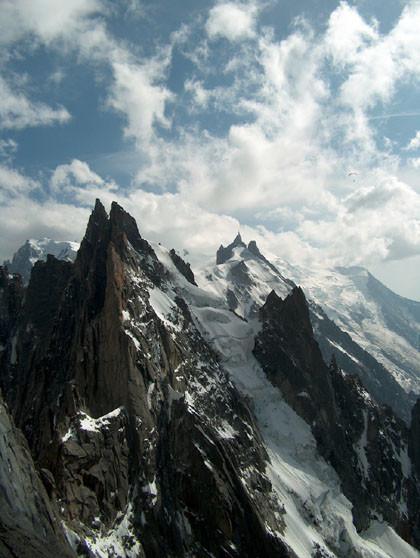 Aiguilles de Chamonix depuis Blaîtière