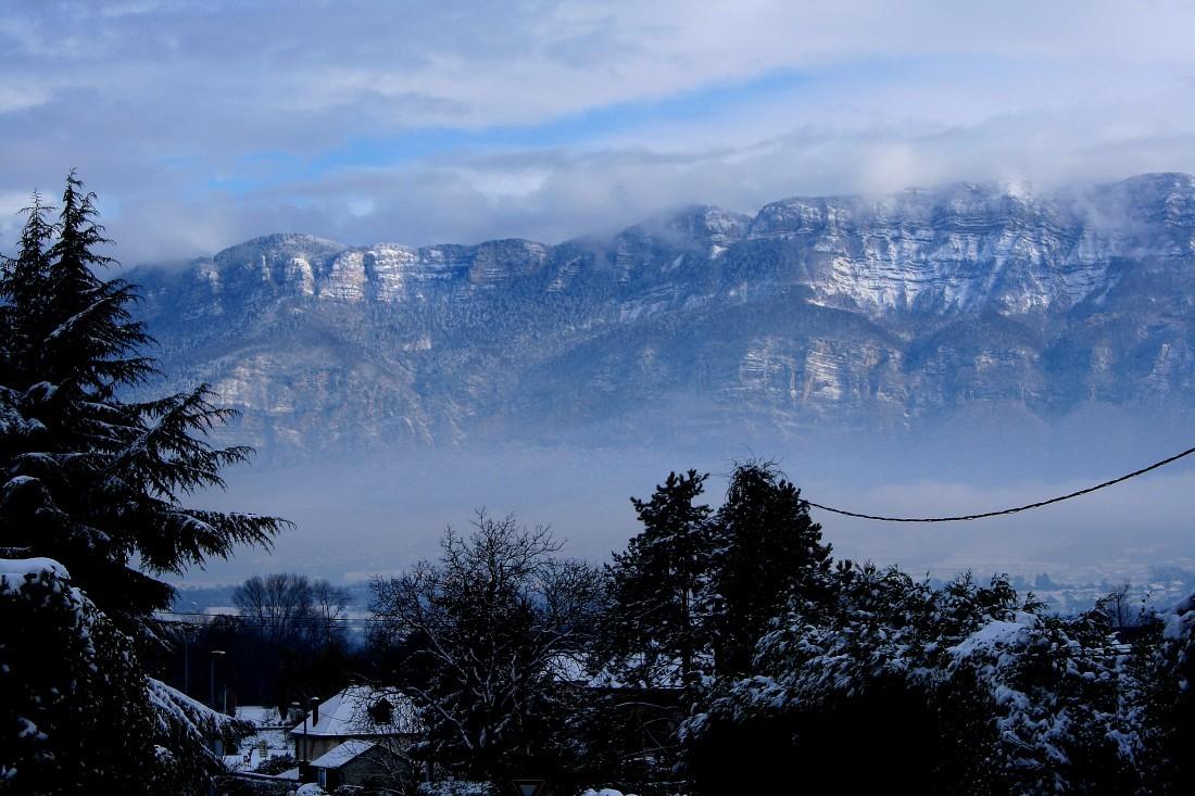 Premières neiges sur les Bauges et en  Savoie