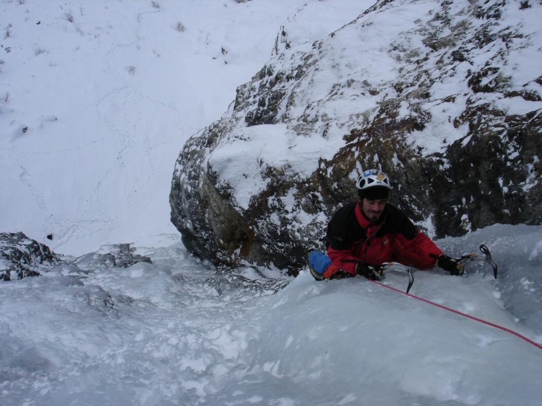Crux de la cascade Le Lerié vue du haut.
