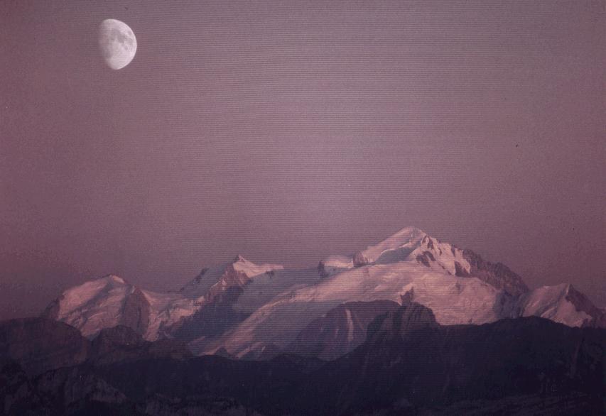 Mont-Blanc vu du Saleve