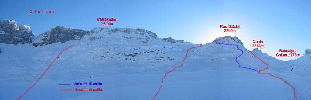 Itinerari al Glatten ed al Rau Stöckli