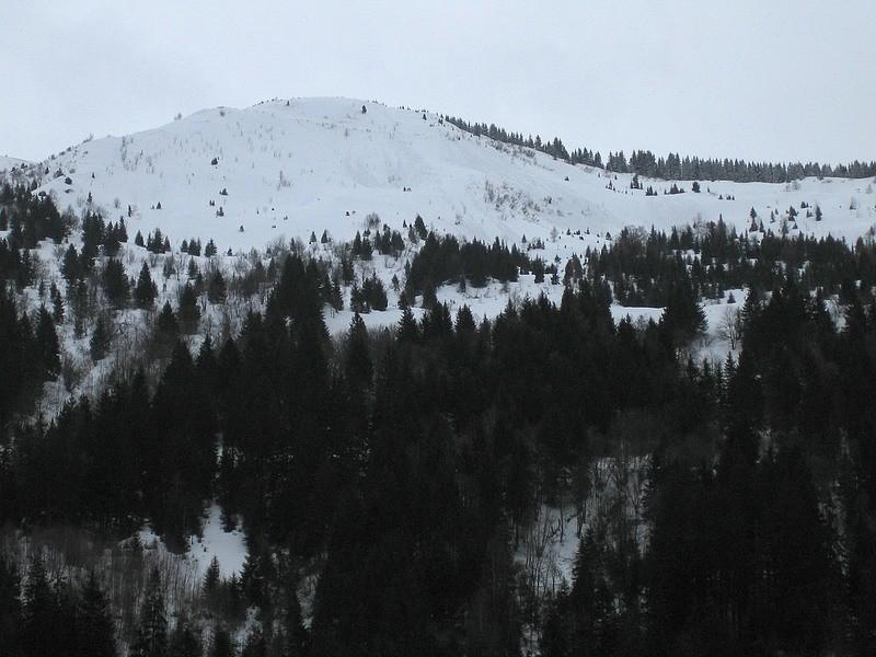 Chapotet - versant N de la bosse 1808m