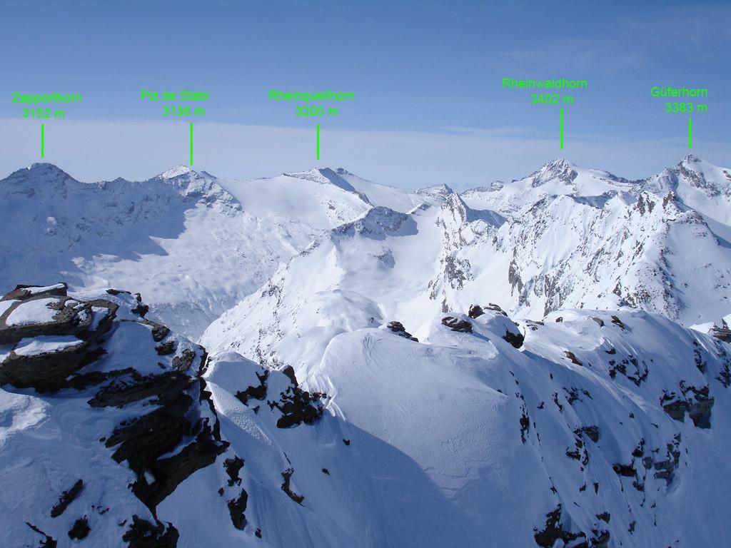 Panorama verso SW dal Chilchalphorn 3039 m.