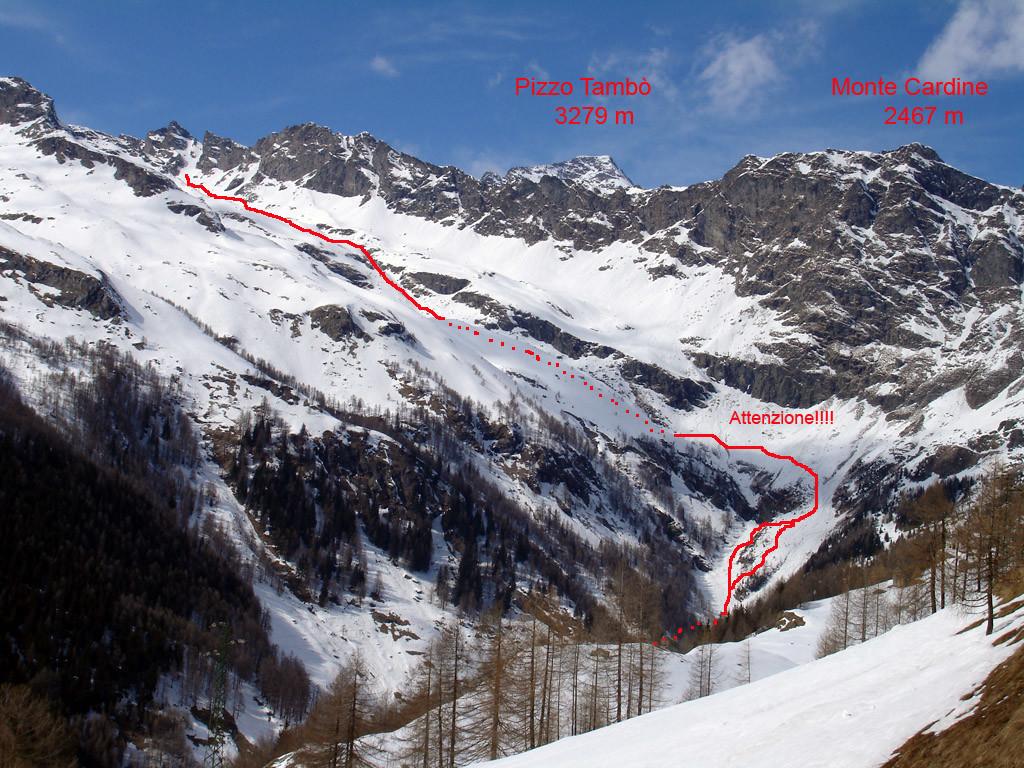 Discesa dalla Valle Schisarolo.
