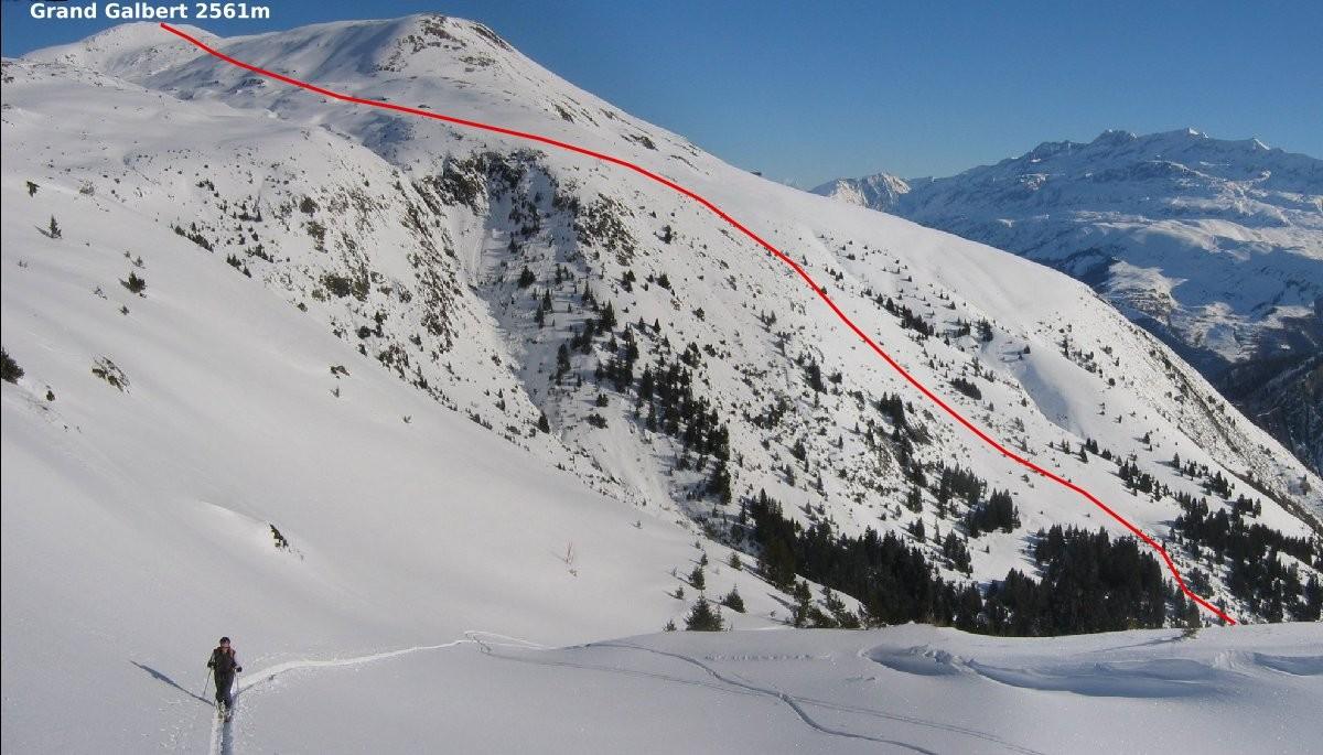 Versant SE du Grand Galbert