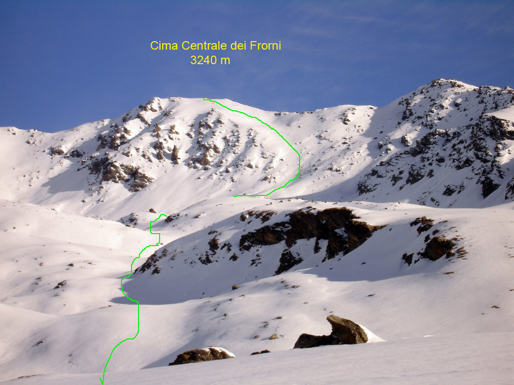 La Cima Centrale dei Forni da Sud  (Val Pisella)