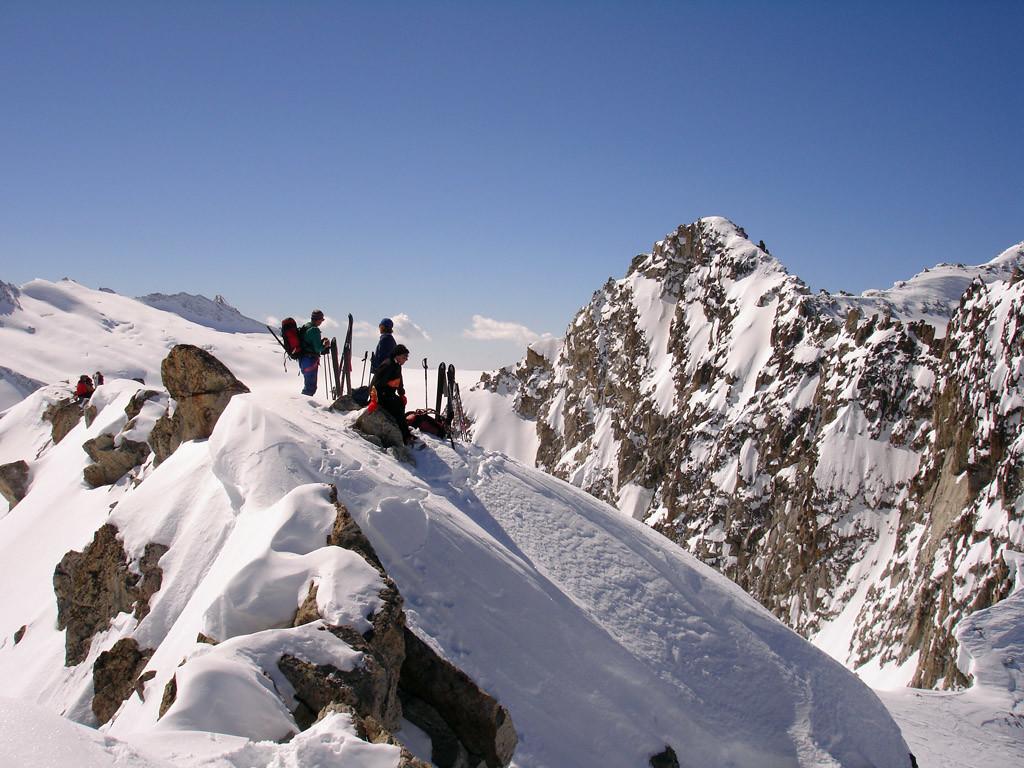 In cima al Corno di Bèdole 3238 m.