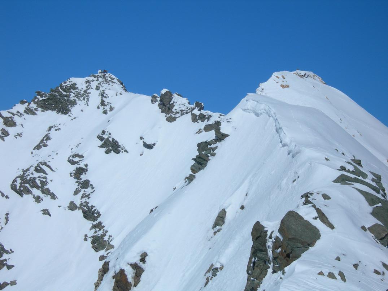 il tratto di cresta prima della cima SURETTA