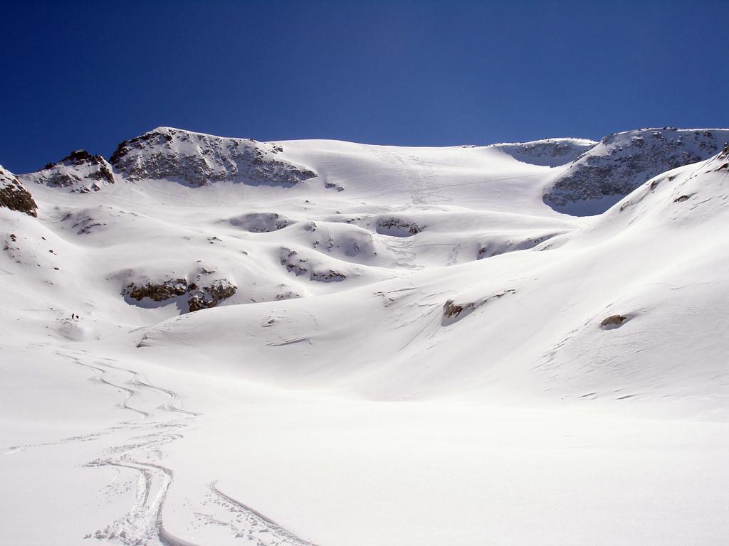 La Cima Calotta 3211 m, versante Nord.