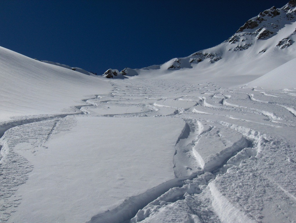 Pentes du glacier d'Aget