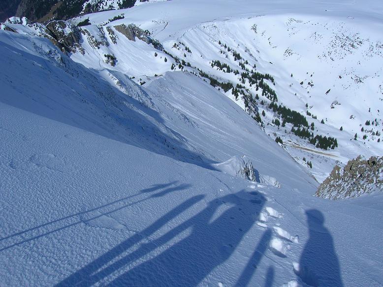 La face N de Balafrasse depuis le sommet
