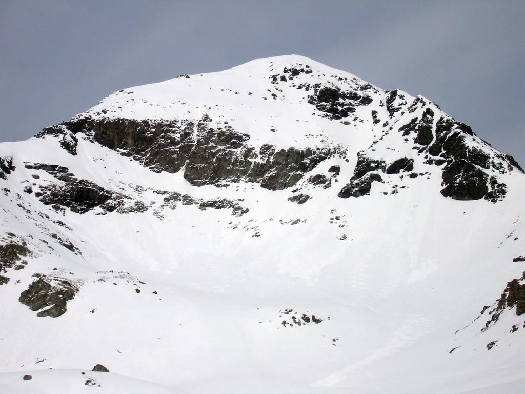 Il Mazzaspitz 3164 m versante SE.