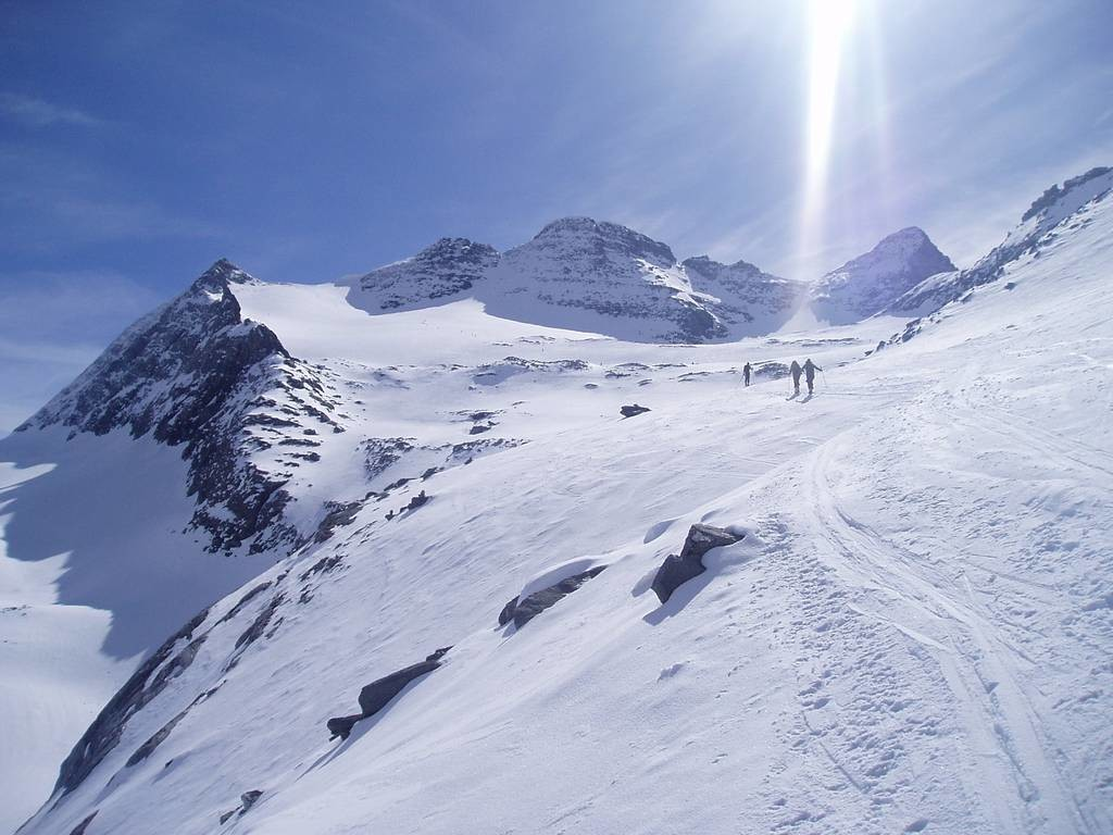l'Homattugletscher fino al Breithornpass (3355m)
