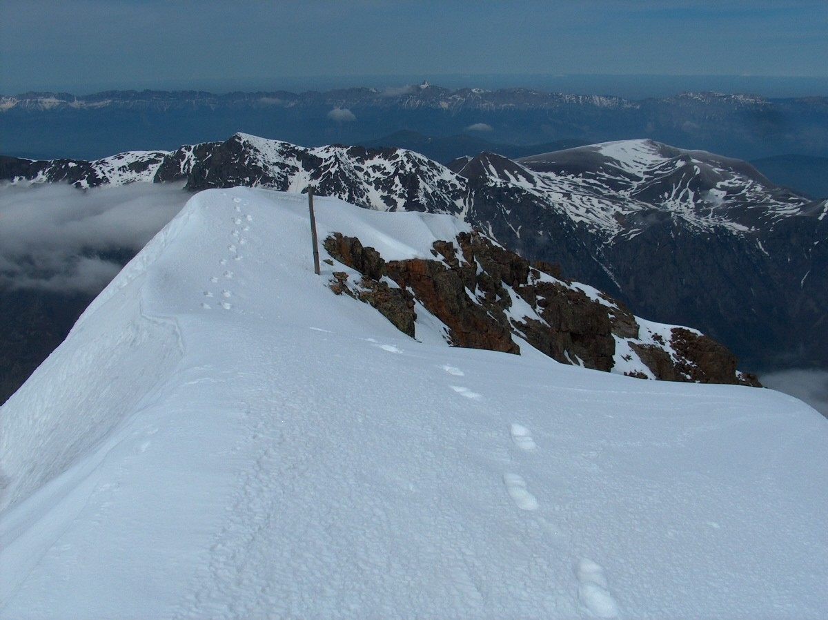 Les derniers mètres avant le sommet.