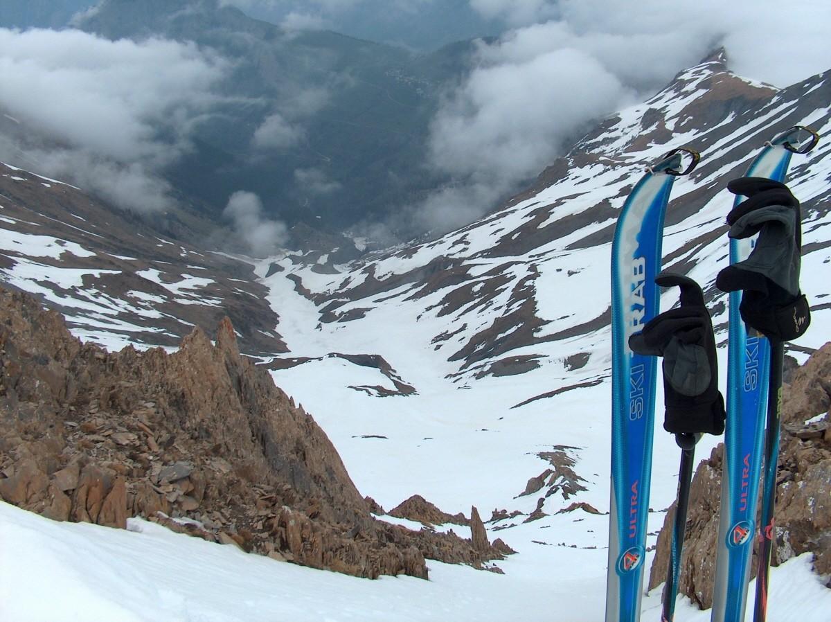 Vue du sommet du Petit Renaud sur le versant Nord.