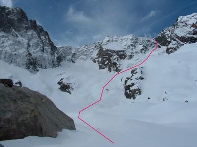 La partie occidentale du glacier du Vallon des Etages.