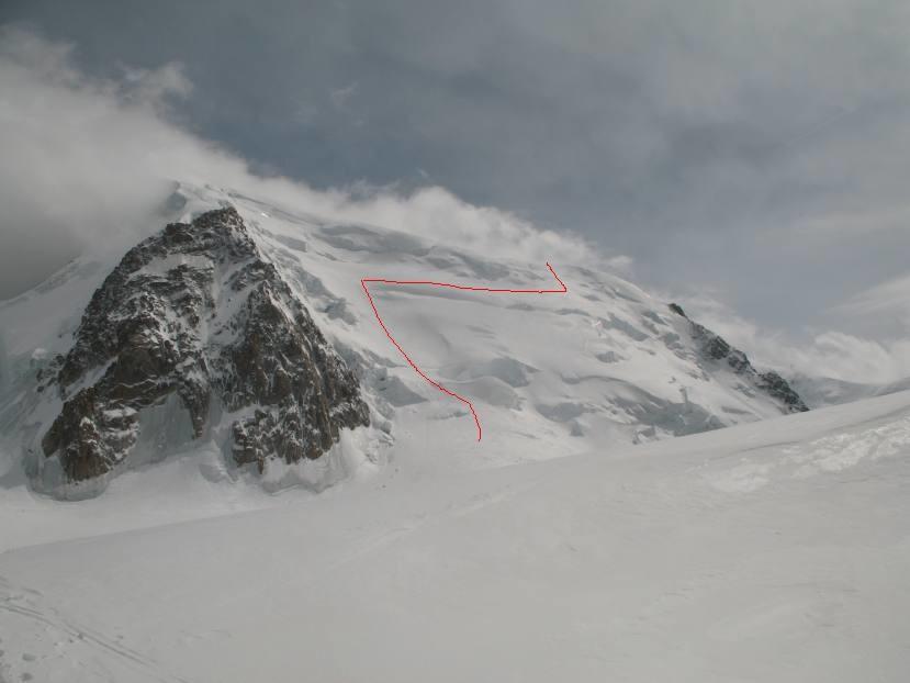 Face N du Mont-Blanc du Tacul