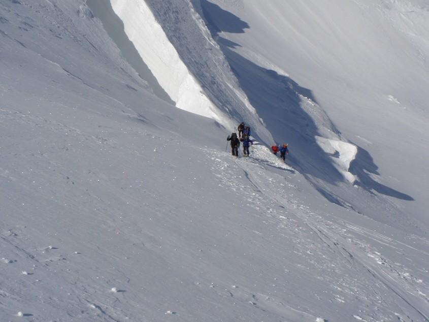 Monte Rosa - par le Silbersattel (Nouvelle voie normale hiver?)