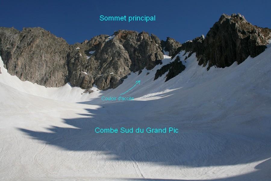 Grand Pic de la  Lauzière- combe sud