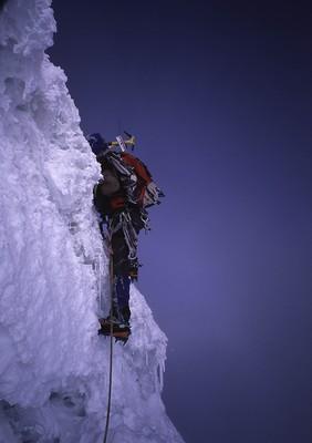 Tocclaraju (6032m) : pente sommitale