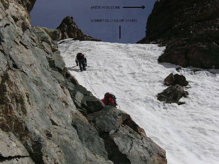 Dôme de neige des Ecrins, couloir Young