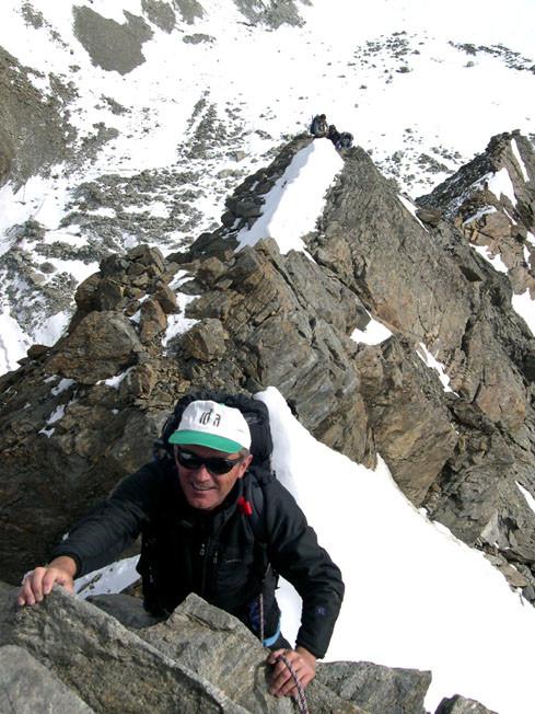 Paolo sulla cresta NNE del Lagginhorn