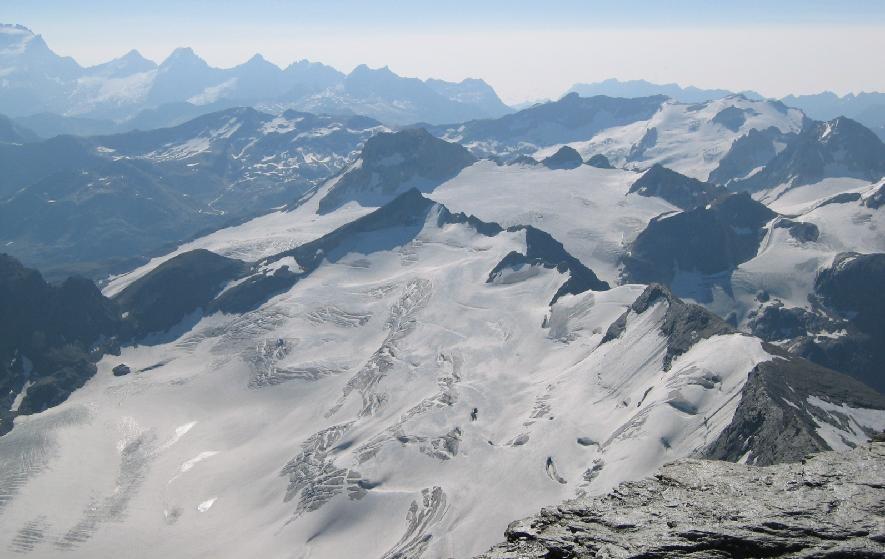 Ghiacciaio Gliairetta - vue depuis sommet de la Gde. Sassière