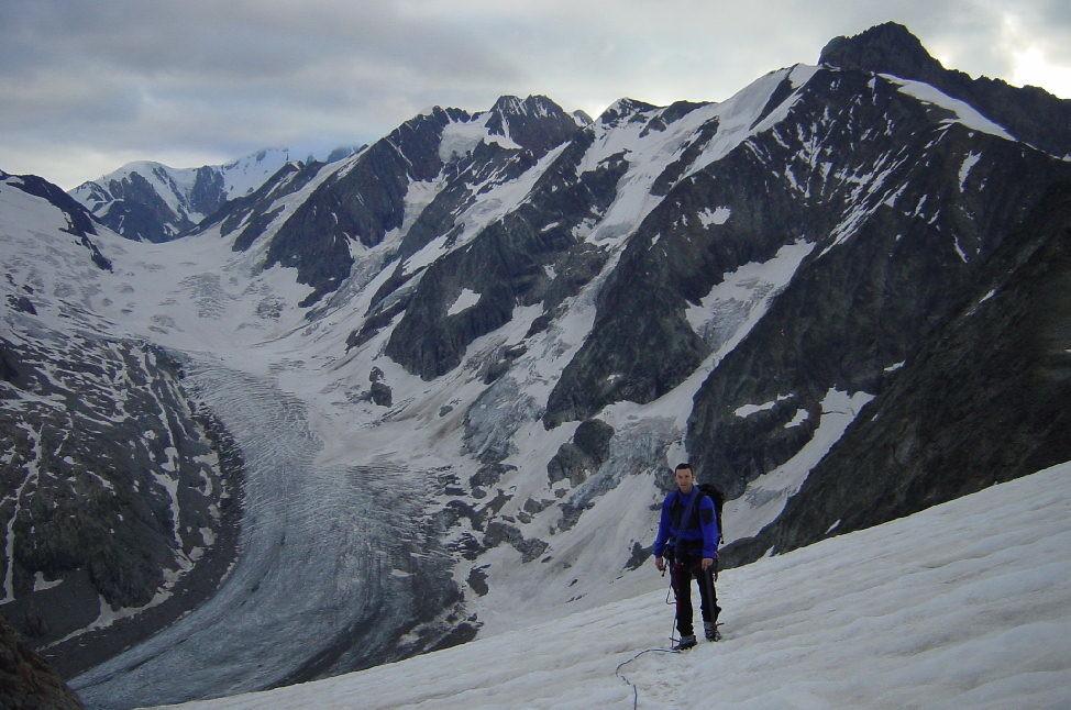 Glacier de Tré-La-Tête depuis les pentes du Mont Tondu
