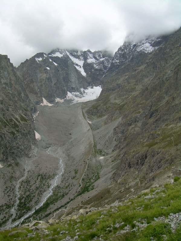 Le glacier Noir depuis la tête du Vallon.