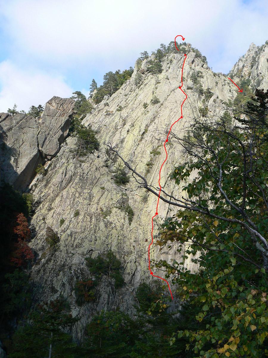 Canigou - little yosemite - voie des secouristes