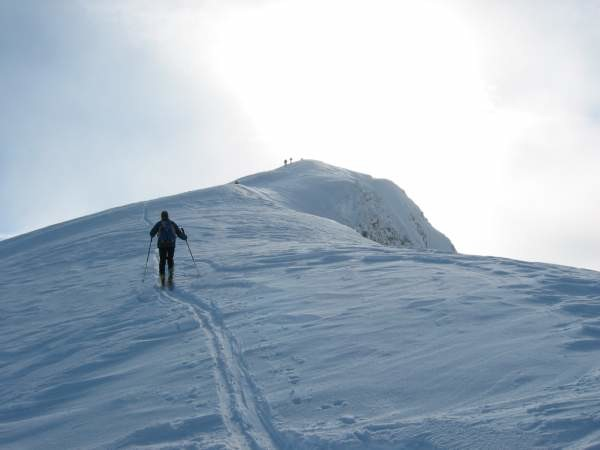 Sulla cresta finale dello Schiahorn