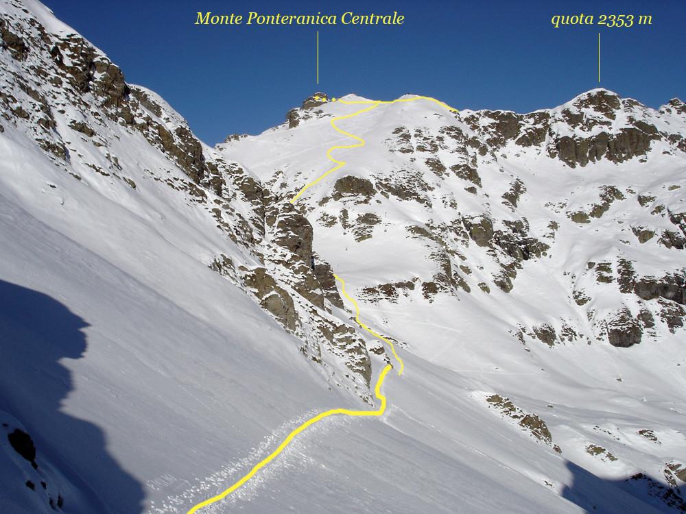 versante meridionale del Monte Ponteranica Centrale.