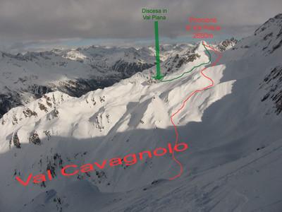La salita al Poncione di Val Piana dalla Val Cavagnolo