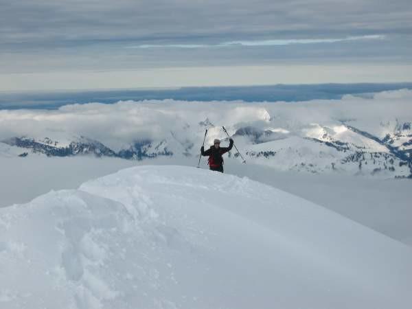 Ultimi metri di cresta prima della vetta dedl Tarent.
