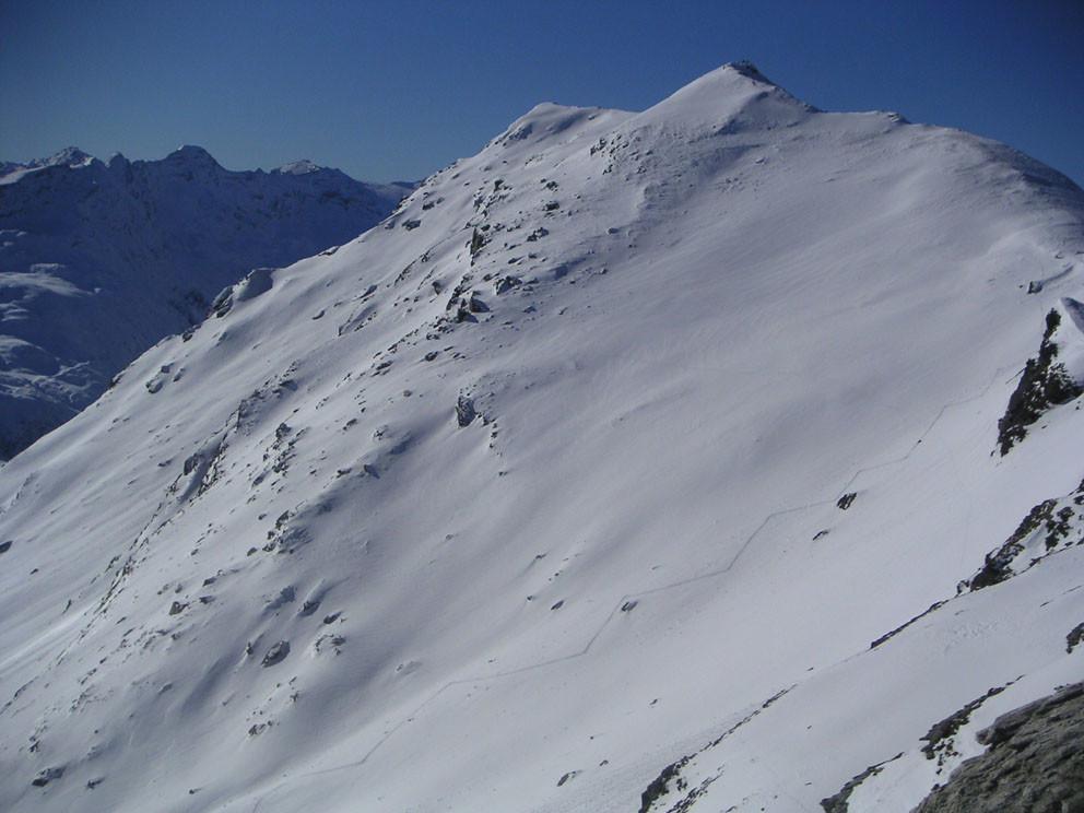Il Valserhorn dalla q. 2799