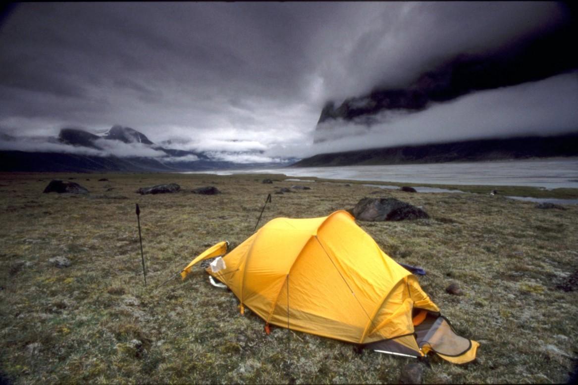 bivouac, terre de baffin