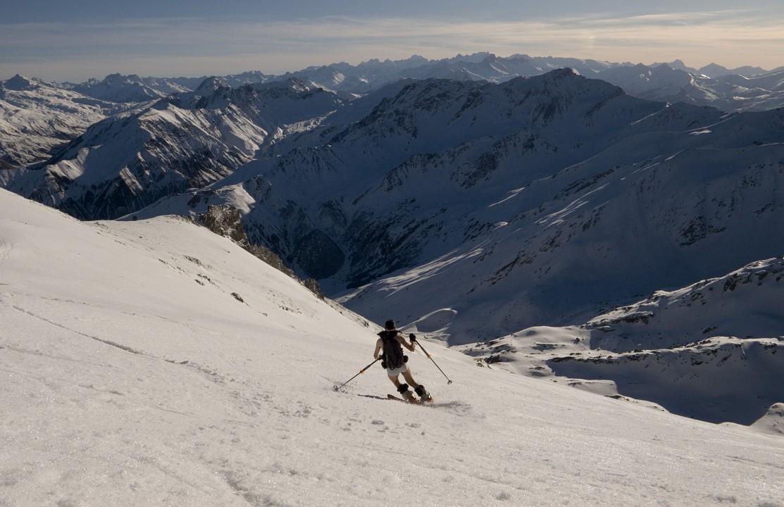 Ski extrême au Cheval Noir, by Bubu.