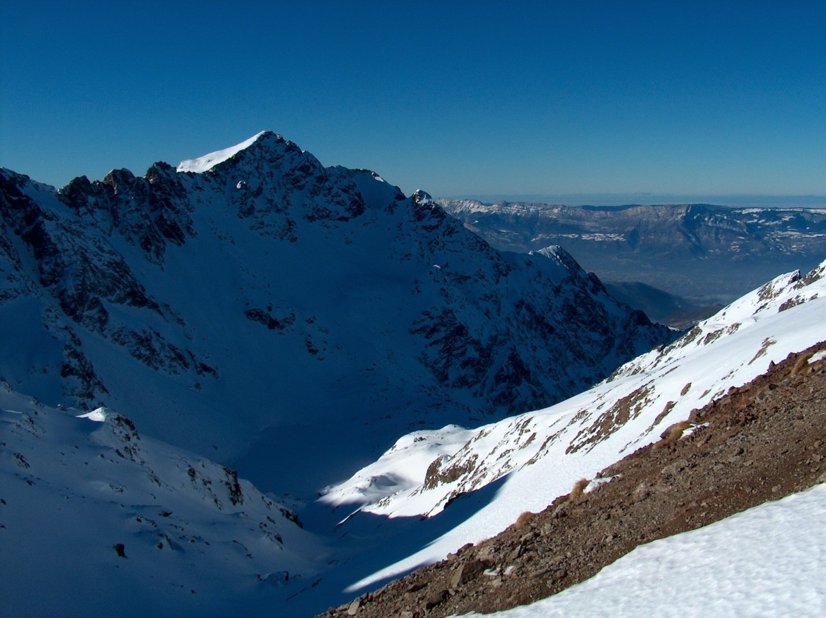 Du Col de Roche Noire vers l'Ouest.